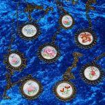 Porzellan-Cabochon Schmuck, (Broncefarben, Zinklegierung: Blei und Nickelfrei),  Verfügbarkeit und Preis auf Anfrage.